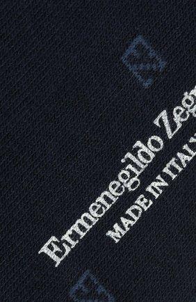 Мужские хлопковые носки ERMENEGILDO ZEGNA синего цвета, арт. N5V023240 | Фото 2