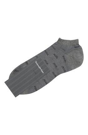 Мужские хлопковые носки ERMENEGILDO ZEGNA светло-серого цвета, арт. N5V023250 | Фото 1