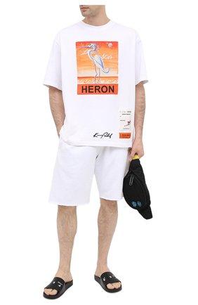 Мужские шлепанцы OFF-WHITE черного цвета, арт. 0MIA088E20FAB0021001 | Фото 2