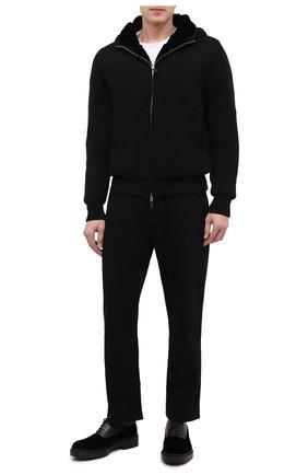 Мужские комбинированные оксфорды GIORGIO ARMANI черного цвета, арт. X2C662/XM623 | Фото 2