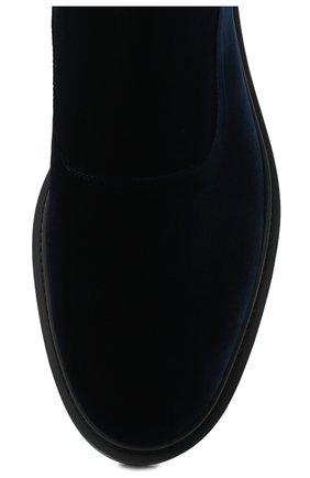 Мужские текстильные челси GIORGIO ARMANI темно-синего цвета, арт. X2M321/XD167 | Фото 5