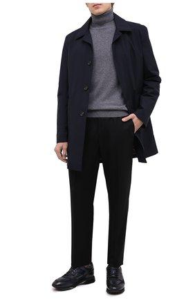 Мужские кожаные кроссовки SANTONI темно-синего цвета, арт. MBEN21167NGGRG0DU55   Фото 2