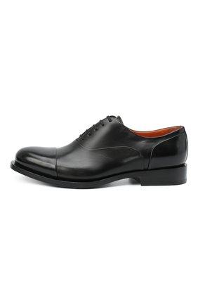 Мужские кожаные оксфорды SANTONI черного цвета, арт. MCCF16799BB4IVVDN01 | Фото 3