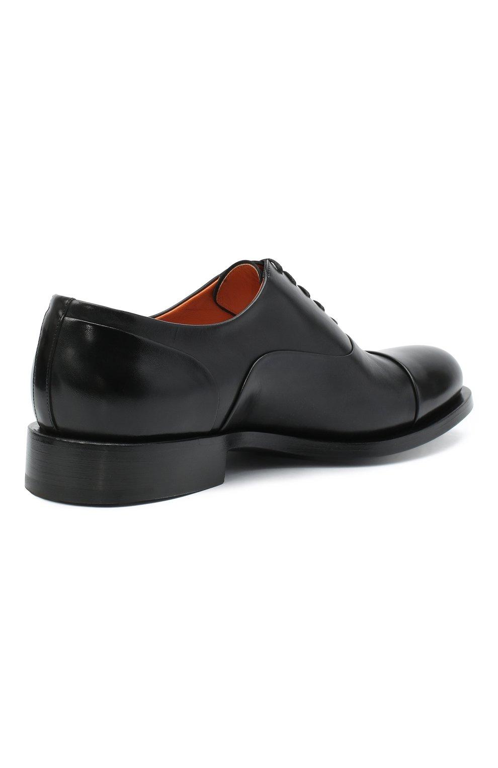 Мужские кожаные оксфорды SANTONI черного цвета, арт. MCCF16799BB4IVVDN01 | Фото 4