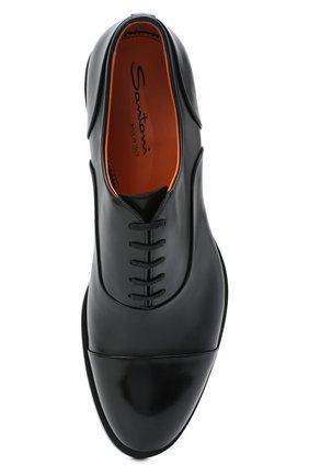 Мужские кожаные оксфорды SANTONI черного цвета, арт. MCCF16799BB4IVVDN01 | Фото 5