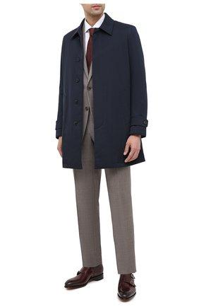 Мужские кожаные монки SANTONI бордового цвета, арт. MCCR11652MC1HVVDQ48 | Фото 2
