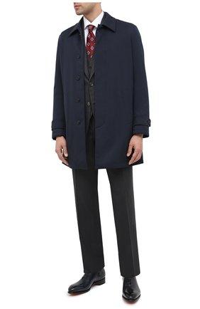 Мужские кожаные оксфорды SANTONI темно-синего цвета, арт. MCCR16229MC1HVVDU59   Фото 2