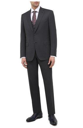 Мужские кожаные оксфорды SANTONI темно-синего цвета, арт. MCLE16207SI1ESCSU53 | Фото 2