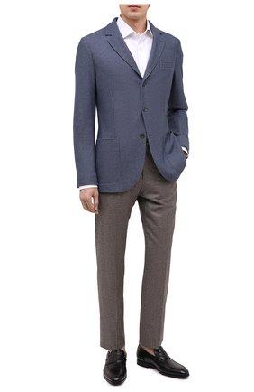 Мужские кожаные лоферы SANTONI черного цвета, арт. MCLE16451SI1ESCSN01 | Фото 2