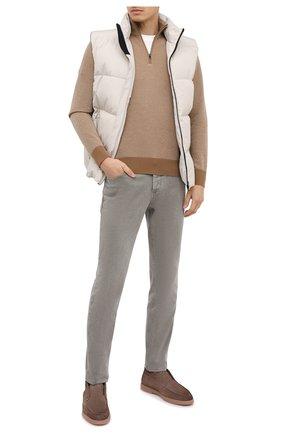 Мужские замшевые ботинки SANTONI светло-коричневого цвета, арт. MGYA16715TISAPMSM45 | Фото 2