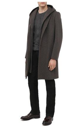 Мужской кожаные дерби OFFICINE CREATIVE темно-коричневого цвета, арт. ANAT0MIA/12/AER0 BUFAL0 | Фото 2