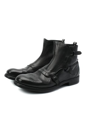 Мужские кожаные сапоги OFFICINE CREATIVE черного цвета, арт. CHR0NICLE/007/IGNIS | Фото 1