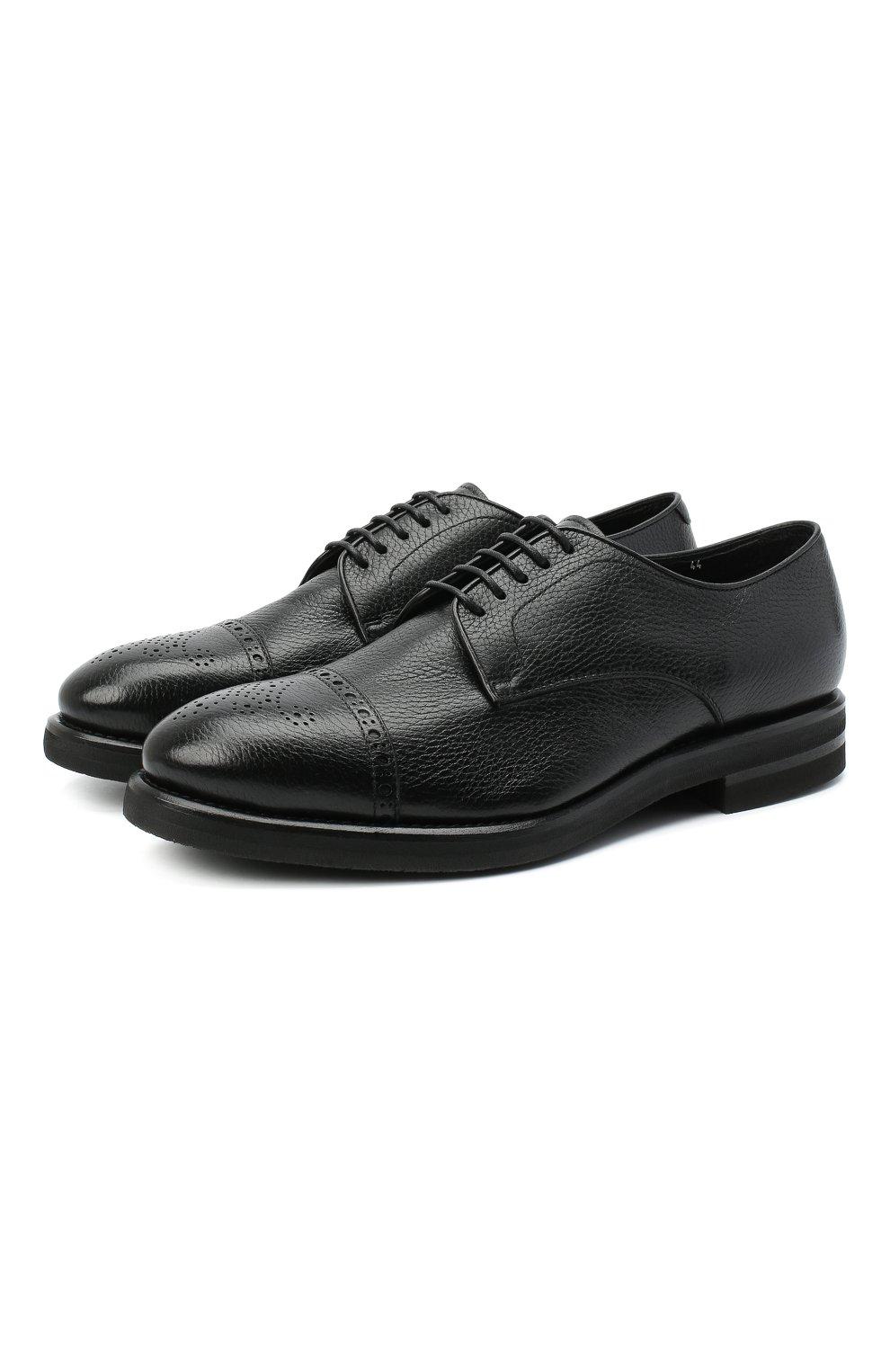 Мужские кожаные дерби H`D`S`N BARACCO черного цвета, арт. 80213.M.2* | Фото 1