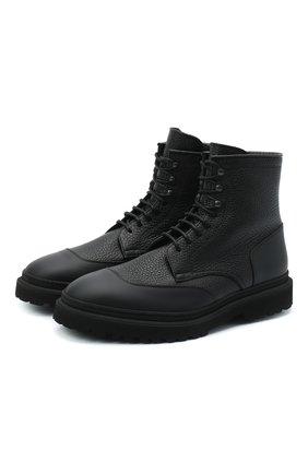 Мужские кожаные ботинки H`D`S`N BARACCO черного цвета, арт. 80506.BM.0* | Фото 1