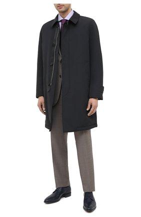 Мужской кожаные дерби ALDO BRUE темно-синего цвета, арт. AB603FPK-NL.P.2D70R | Фото 2