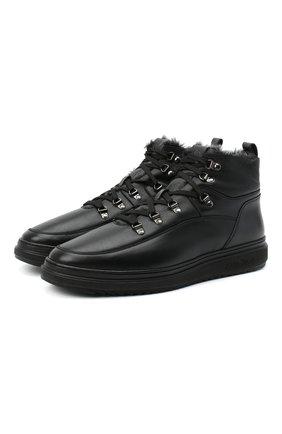 Мужские кожаные ботинки ALDO BRUE черного цвета, арт. AB6155K-NMDS.A.FC   Фото 1