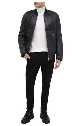 Мужские кожаные ботинки ALDO BRUE черного цвета, арт. AB6155K-NMDS.A.FC   Фото 2