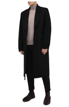 Мужские замшевые челси ALDO BRUE темно-коричневого цвета, арт. AB6096K-VS.P.FC   Фото 2