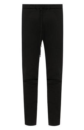 Мужской хлопковые брюки KAZUYUKI KUMAGAI черного цвета, арт. AP03-208 | Фото 1