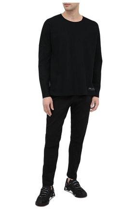Мужской хлопковые брюки KAZUYUKI KUMAGAI черного цвета, арт. AP03-208 | Фото 2