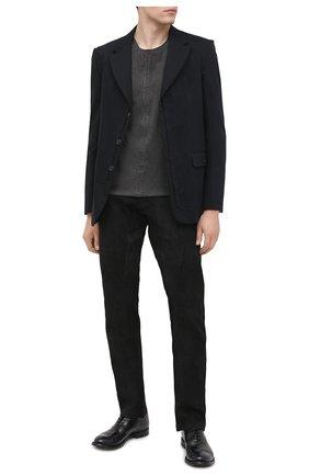 Мужской кожаные брюки ISAAC SELLAM черного цвета, арт. HED0NISTE-STRETCH H21 | Фото 2
