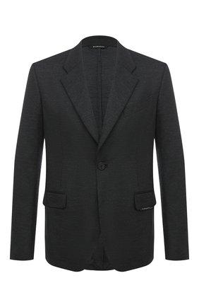 Мужской шерстяной пиджак GIVENCHY серого цвета, арт. BM308D30HT | Фото 1