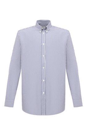 Мужская хлопковая рубашка GIVENCHY синего цвета, арт. BM60H012ZY | Фото 1