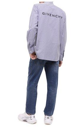 Мужская хлопковая рубашка GIVENCHY синего цвета, арт. BM60H012ZY | Фото 2