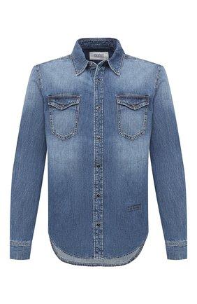Мужская джинсовая рубашка GIVENCHY синего цвета, арт. BM60KS50G1 | Фото 1