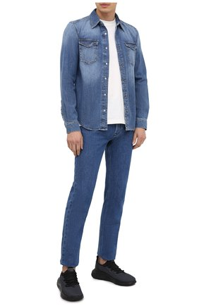 Мужская джинсовая рубашка GIVENCHY синего цвета, арт. BM60KS50G1 | Фото 2