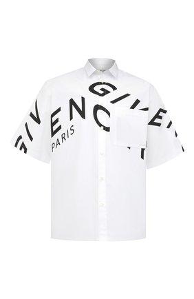 Мужская хлопковая рубашка GIVENCHY белого цвета, арт. BM60L3109F | Фото 1