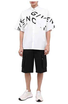 Мужская хлопковая рубашка GIVENCHY белого цвета, арт. BM60L3109F | Фото 2