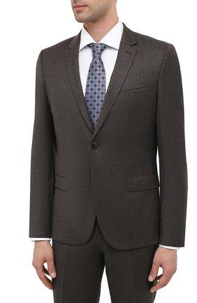 Мужской шерстяной костюм HUGO коричневого цвета, арт. 50446037   Фото 2