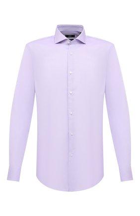 Мужская хлопковая сорочка BOSS сиреневого цвета, арт. 50439143 | Фото 1