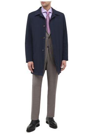 Мужская хлопковая сорочка BOSS сиреневого цвета, арт. 50439143 | Фото 2