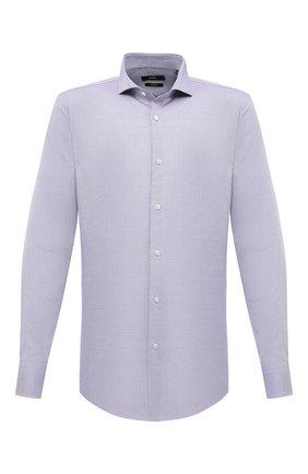 Мужская хлопковая сорочка BOSS сиреневого цвета, арт. 50439161 | Фото 1