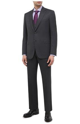 Мужская хлопковая сорочка BOSS сиреневого цвета, арт. 50439161 | Фото 2