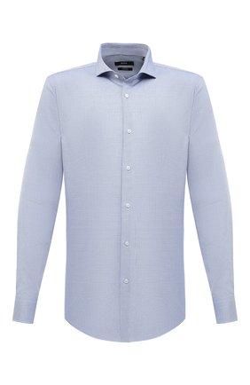 Мужская хлопковая сорочка BOSS синего цвета, арт. 50439161 | Фото 1
