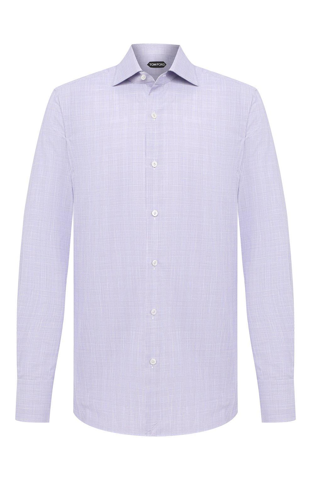 Мужская хлопковая сорочка TOM FORD фиолетового цвета, арт. 8FT216/94S3AX   Фото 1