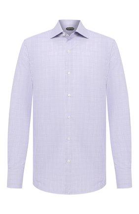 Мужская хлопковая сорочка TOM FORD фиолетового цвета, арт. 8FT216/94S3AX | Фото 1