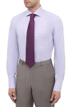 Мужская хлопковая сорочка TOM FORD фиолетового цвета, арт. 8FT216/94S3AX   Фото 4