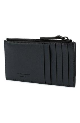 Мужской кожаный футляр для кредитных карт SALVATORE FERRAGAMO черного цвета, арт. Z-0733703 | Фото 2
