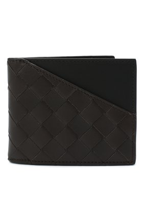 Мужской кожаное портмоне BOTTEGA VENETA темно-коричневого цвета, арт. 619389/VCPQ7 | Фото 1