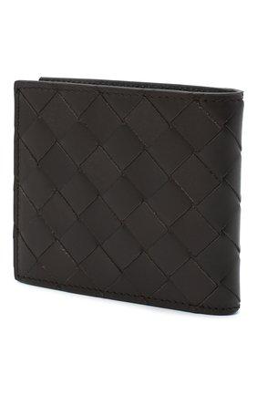 Мужской кожаное портмоне BOTTEGA VENETA темно-коричневого цвета, арт. 619389/VCPQ7 | Фото 2