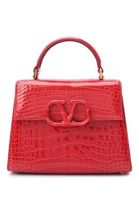 Женская сумка valentino garavani vsling из кожи аллигатора VALENTINO красного цвета, арт. UW2B0F53/XDE/AMIS | Фото 1