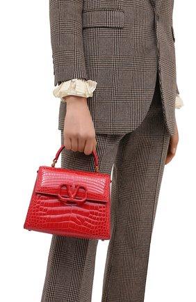 Женская сумка valentino garavani vsling из кожи аллигатора VALENTINO красного цвета, арт. UW2B0F53/XDE/AMIS | Фото 2
