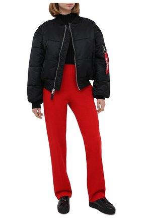 Женские кожаные кеды DSQUARED2 черного цвета, арт. SNW0064 01501155   Фото 2