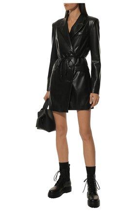 Женские кожаные ботинки ranger LE SILLA черного цвета, арт. 6482R020M1PPCHI | Фото 2