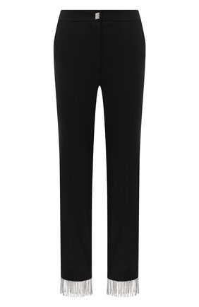 Женские брюки из шерсти и хлопка GIUSEPPE DI MORABITO черного цвета, арт. PF20027PA-100C | Фото 1