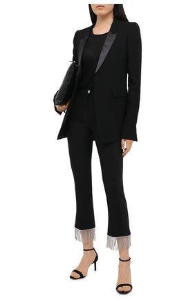 Женские брюки из шерсти и хлопка GIUSEPPE DI MORABITO черного цвета, арт. PF20027PA-100C | Фото 2